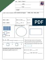 Tenambit PS Maths Key Ideas Ass Yr3 T1