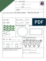 Tenambit PS Maths Key Ideas Ass Yr3 T4