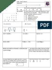 Tenambit PS Maths Assessment Year 6 Term 1