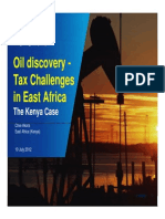 Oil Discovery- The Tax Challenge in Kenya