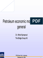 Petroleum Economic Modelling