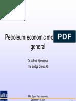 Petroleum Economic Modelling