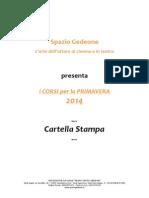Corsi Primavera 2014_Spazio Gedeone