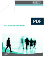 Hfi Psychometric Test Catalogue