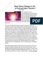 Does Big Bang Theory Disapprove the Existence of God and Other Theories