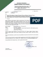 Undangan Rakor DAK Bidang Pertanian 2014 WilayahTimur