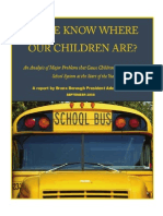 Do We Know Where Our Children Are - An Analysis of Major Problems that Cause Children to Get Lost at the Start of the School Year