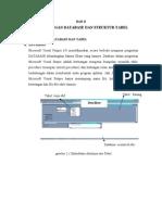 Perancangan Database Dan Struktur Tabel