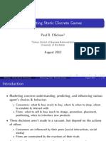 Ellickson Updated DukeQuantCamp 2013