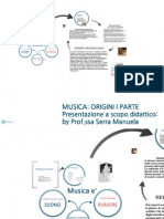 Musica e Origini I Parte; presentazione didattica. Prof.ssa Serra Manuela