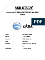 Case Analysis (AT&T Final) Anwer