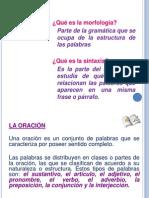 Morfologia Sintaxis Complementos de La Oracion