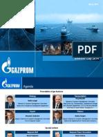 Gazprom Investor Day Presentation - Mar 3 2014
