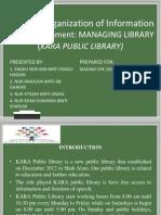 IMC 451 (G) Presentation Managing Library