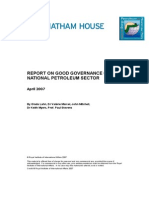 Good Governance for the Petroleum Oil Sector2
