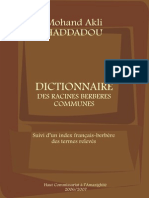 Dictionnaire des racines berbères communes - Mohand Akli Haddadou