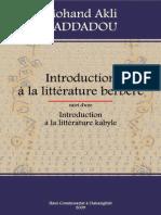 Introduction à la littérature berbère - Mohand Akli Haddadou