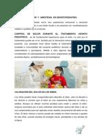 Manejo Del Dolor y Anestesia en Odontopediatria