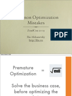 Common Optimization Mistakes