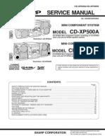 Xp500 Manual de Servicio Minicomponente Sharp