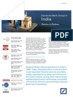 Deutsche Bank India Country Fact Sheet