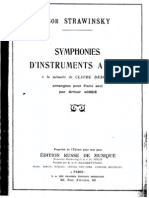 Symphonies of Wind Instruments (1920 Version) (Piano Transcription by Lourie)