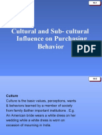 Cultural and Sub Cultural Influance on Purchasing Behavior