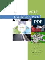 Localizacion de La Planta