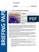 Petroleum Poverty and Security