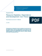 Resource Depletion Dependance and Development