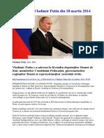 Discursul lui Vladimir Putin. Lumea unipolară a muritMai mult