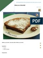 Torta Alla Nutella o Gteau Au Chocolat