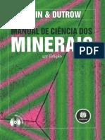 manual de ciência dos  minerais klein e dutrow