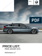 1003 BMW 5 Series Gran Turismo Price List