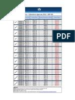 a1 Mexico Bsp Calendar Agents 2014