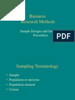 Sample Designs and Sampling Procedures