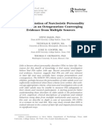 The Presentation of Narcissistic Personality in a Octogenarian