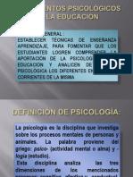 FUNDAMENTOS PSICOLÓGICOS DE LA EDUCACIÓN