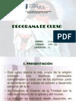 Programa Cristologia