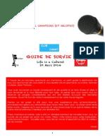 Guide de Survie - Chanteurs