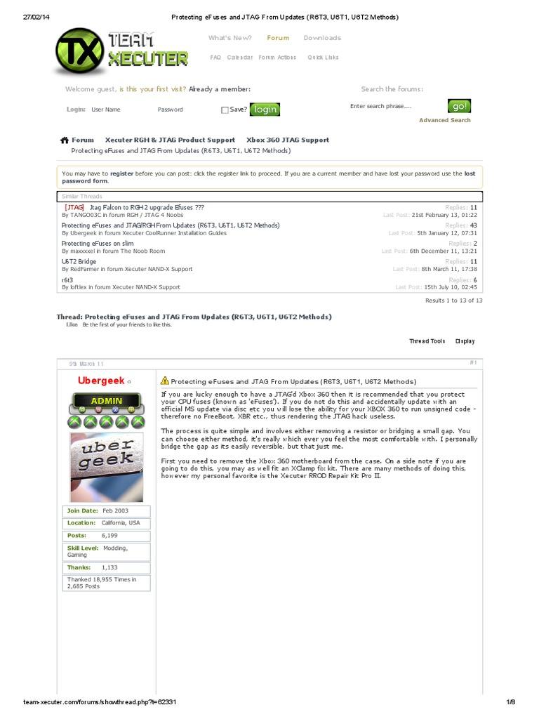 Protecting Efuses And Jtag From Updates R6t3 U6t1 U6t2 Methods Image Xbox 360 Slim Motherboard Download Internet Forum