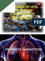 Fármacos de uso habitual en situaciones de emergencia