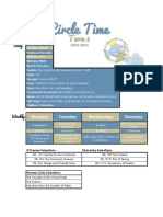 Circle Time Weekly Schedule 2013-2014 Term 3
