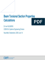 Beam Torsion Al Section Properties