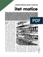 Casopis PCELA - Kvalitet Matice