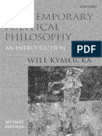 Will Kymlicka Contemporary Political Philosophy an Introduction 2001