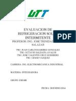 Evaluacion de Refrigeracion Solar Intermitente
