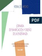 Jornada de Planificacion Ydiseno de La Ensenanza 2007