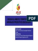 Desenvolvimento Territorial e Arranjos Produtivos Em Sergipe - Ricardo Lacerda [Modo de Compatibilidade]