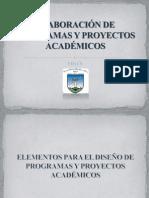ELABORACIÓN DE PROGRAMAS Y PROYECTOS ACADÉMICOS